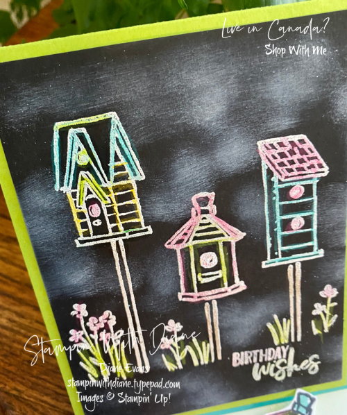 Garden Birdhouses Stampin Up Stampin With Diane Evans
