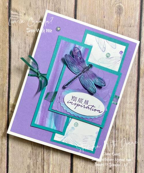 Dragonfly Garden Stampin Up! Stampin With Diane Evans